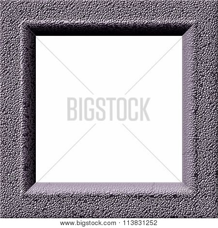 Digitally rendered frame with concrete texture