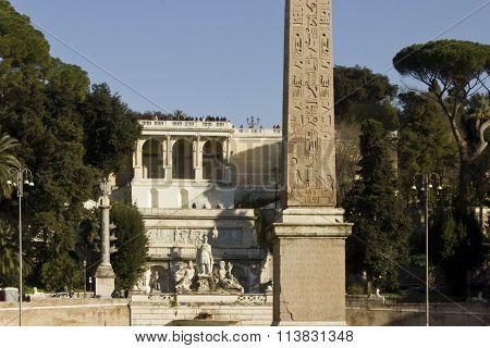 The Egyptian Obelisk Of Ramesses Ii