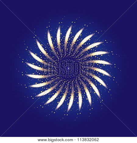 Firework ornament illustration
