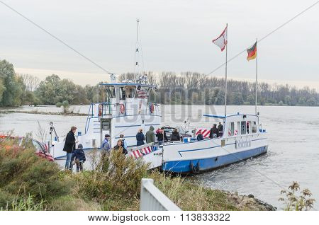 The Rhine Ferry At Zons
