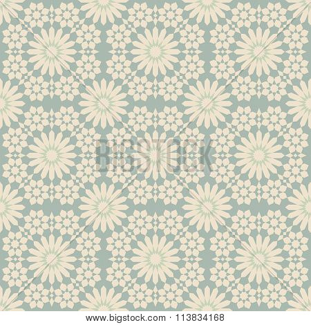 Elegant antique background image of geometry flower kaleidoscope pattern.