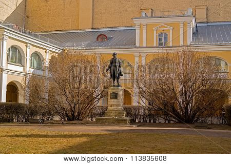 The Monument To Pushkin Apartment Museum At - Petersburg, Moika Embankment.