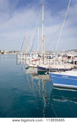 Moored Yachts Ibiza Marina