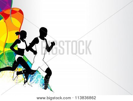 Running Sport Background