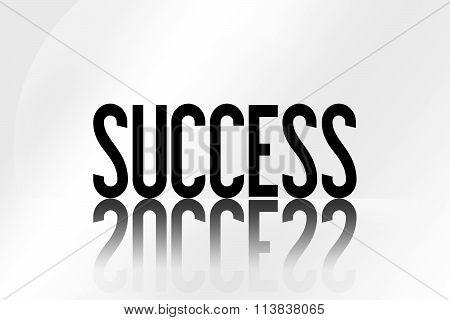 Success - Illustration - Mirrored Text Graphic - Modern Business Design
