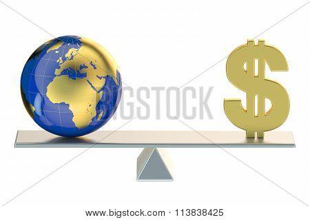 Balance Concept, World And Money