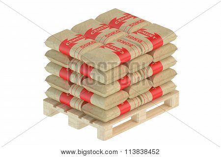 Cement Bags On Pallet