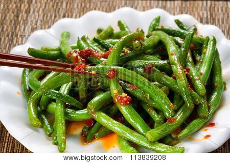 Cooked Spicy Greens In Plate Ready To Eat