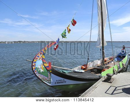 A  Portuguese Sea Weed Gathering Boat