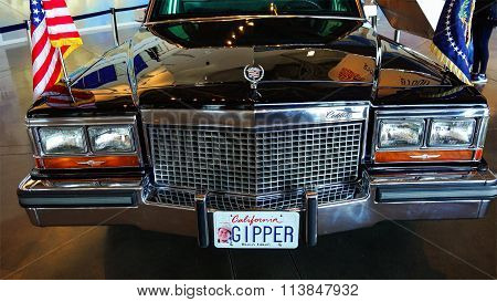 Ronald Reagan's Presidential Motorcade On Display At The Ronald Reagan Presidential Library