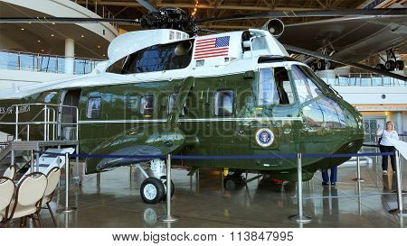 Marine One Presidential Helicopter At The Ronald Reagan Presidential Library