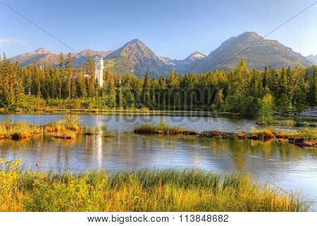 Natural Mountain Lake In Slovakia Tatras