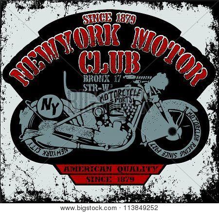 Vintage Motorcycle Vector Set.skull Riders Motorbike Vector Set