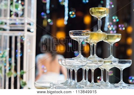 Champagne Glasses For Celebrate Wedding