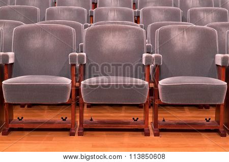 Grey Theater Seats