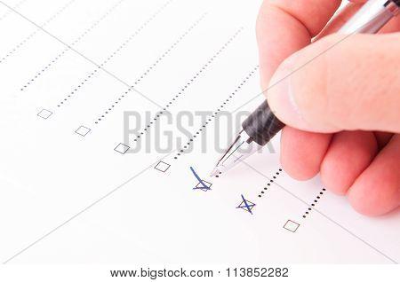 Hand Checking A Box