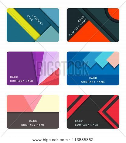 Vector Set Material Design Card And Banners