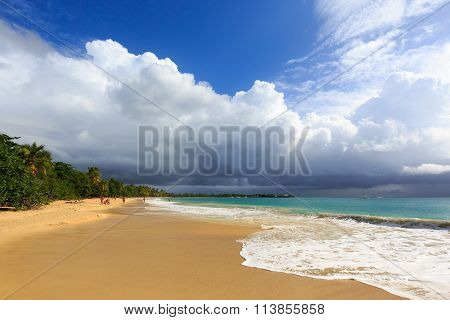 Before The Thunderstorm On An Exotic Beach