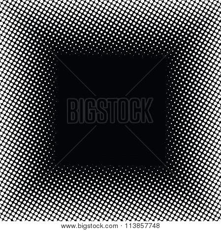 Halftone Frame On Black