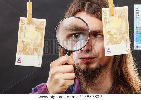 Man Verify Money Cash