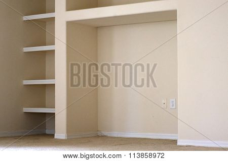 Built In Shelves And Cubby
