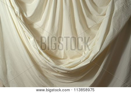 Draped Muslin Backdrop