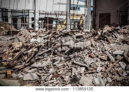 Demolition Of An Old Factory Building