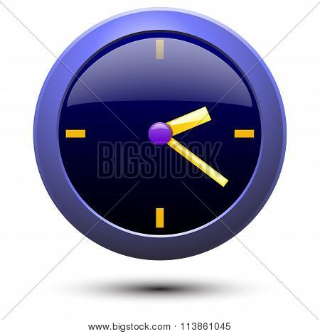 illustration of simple blue wall clock