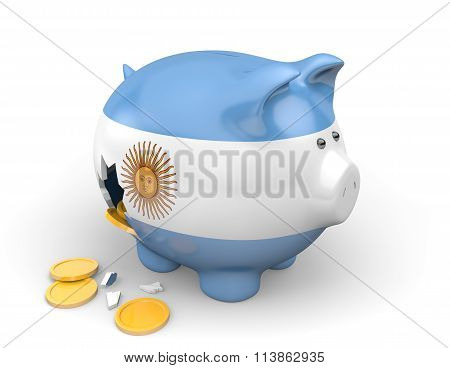Argentina economy and finance concept for poverty and national debt