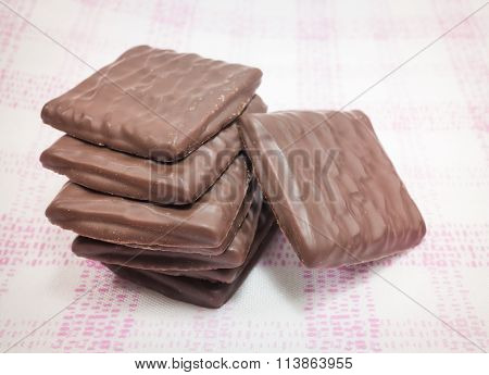 Stack Of Milk Chocolate Pieces