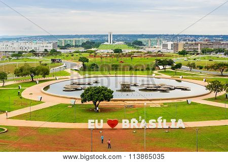 Aerial View Of Brasilia, Capital Of Brazil