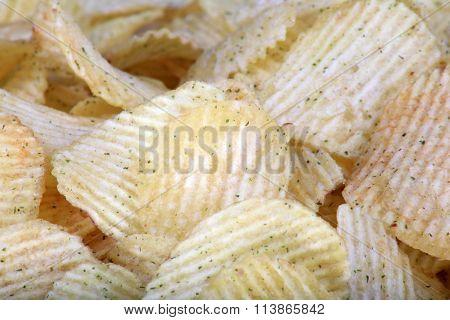Many Of Potato Chips Horizontal  Texture