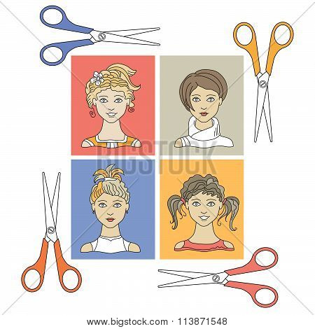 Hairstyles And  Scissors 1