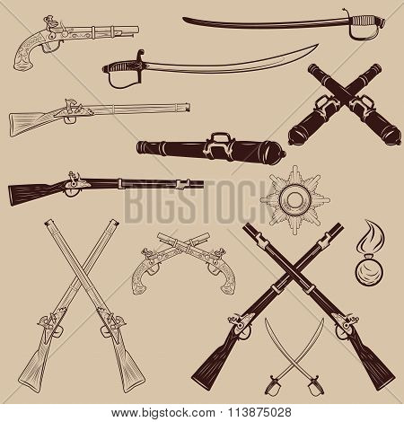 Ancient Weapon, Ax, Sword, Sabers, Grenades