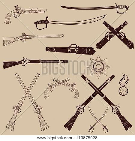 Ancient Weapon, Ax, Sword, Sabers, Grenades