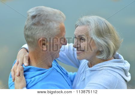 elderly man and an elderly woman