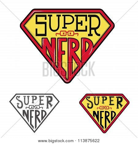 Super Nerd. T-shirt Design Template.