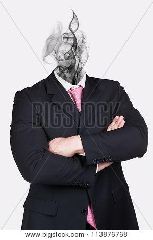 Headless dreaming businessman