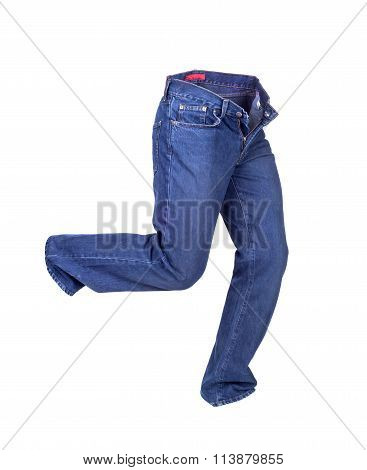Blue Jeans Pants Isolated