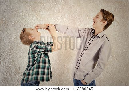 Two Teen Boys Quarrel