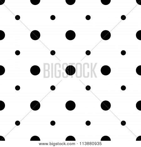 Unusual big and small polka dot seamless pattern