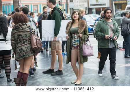 Woman In Hollywood Without Pants
