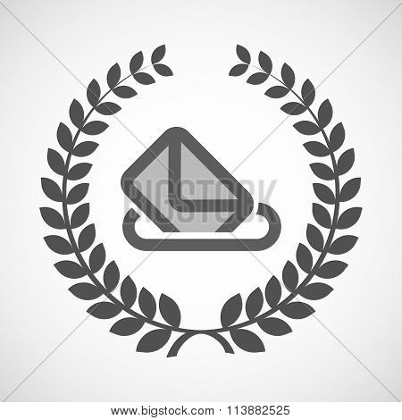Isolated Laurel Wreath Icon With  A Ballot Box