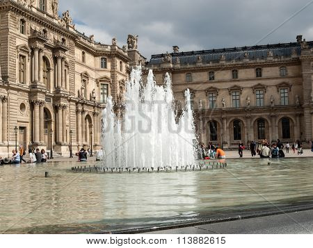 PARIS, FRANCE - SEPTEMBER11, 2014:Paris - The Louvre Museum. Louvre is one of the biggest Museum in the world receiving more than 8 million visitors each year.