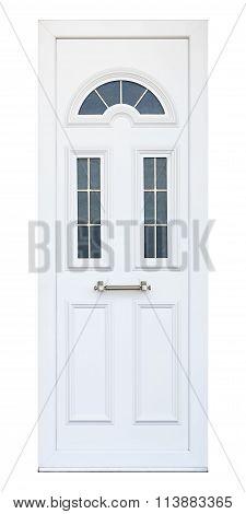 White Aluminum Door