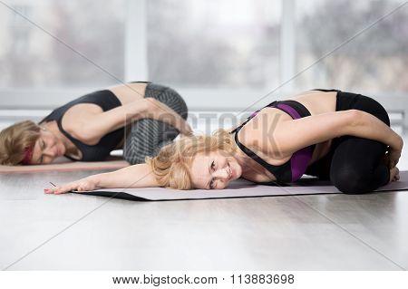 Senior Women Doing Frog Pose