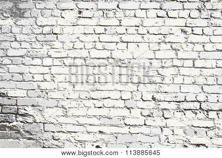 Obsolete Textured Brick Wall