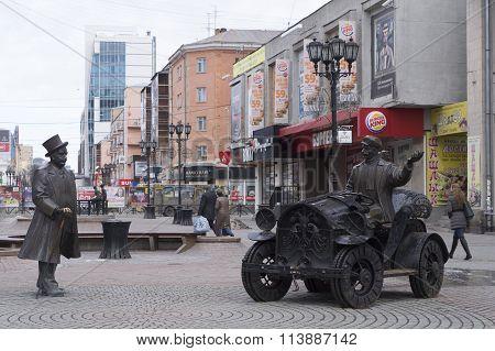 Sculpture Banker And Motorist