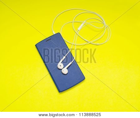 Music Player On Yellow Background