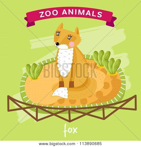 Vector Zoo Animal, Fox